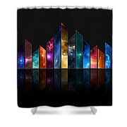 Multicolored Crystals - 479 Shower Curtain