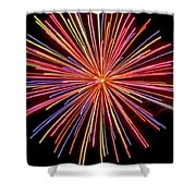Multicolored Fireworks Shower Curtain