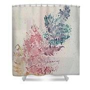 Multicolour Fern Shower Curtain