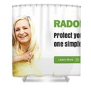 Multifamily Radon Testing Shower Curtain