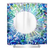 Multimedia Screen And Graphic Design Shower Curtain