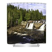 Multiple Waterfalls Shower Curtain by John Holloway
