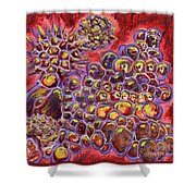 Multiply Microbiology Landscapes Series Shower Curtain