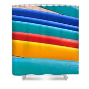 Multitude Of Surfboards Shower Curtain
