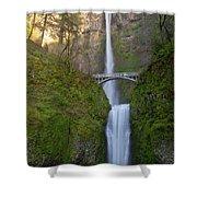 Multnomah Falls In Oregon State. Shower Curtain