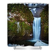 Multnomah Falls With Ice Shower Curtain