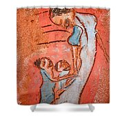 Mum 3 - Tile Shower Curtain