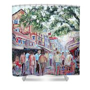 Mumbai Market Shower Curtain