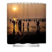 Mumbai Sunset Shower Curtain