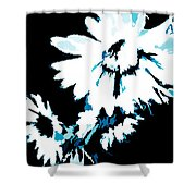 Mums In Abstract Shower Curtain