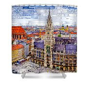 Munich Cityscape Shower Curtain