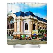 Municipal Theater Ho Chi Minh City Vietnam Shower Curtain