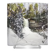 Munising Fall Upper Michigan Shower Curtain