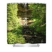 Munising Falls Shower Curtain