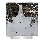 Munising Frozen Shower Curtain by Michael Peychich