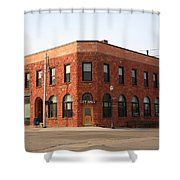 Munising Michigan City Hall Shower Curtain