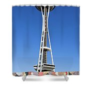 Mural And Tower Shower Curtain