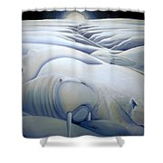 Mural  Winters Embracing Crevice Shower Curtain