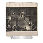 Murder Of Edith Cavell, First State By George Bellows 1882-1925 Shower Curtain