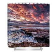 Muriwai Sunset Shower Curtain