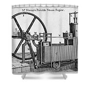 Murrays Portable Steam Engine, 19th Shower Curtain
