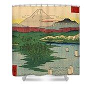 Musashi Noge Yokohama - Noge Yokohama In Musashi Province Shower Curtain