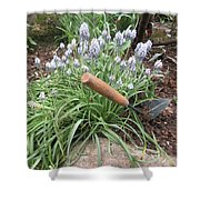 Muscari Blend Blue And White Shower Curtain