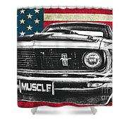 Muscle Us Mustang Shower Curtain