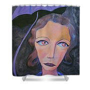 Muse And Umbrella Shower Curtain