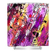 Muse Fragments Shower Curtain
