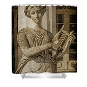 Achilleion, Corfu, Greece - The Muse Terpsichore Shower Curtain