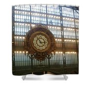 Museum D'orsay Clock Shower Curtain