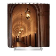 Museum Hallway Shower Curtain