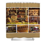 Museum Of Appalachia Block Collage Shower Curtain
