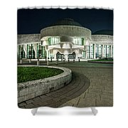 Museums Face Entrance Shower Curtain