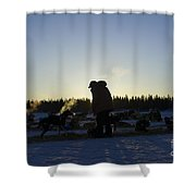 Mushers At Sunrise Shower Curtain