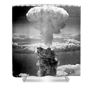 Mushroom Cloud Over Nagasaki  Shower Curtain by War Is Hell Store