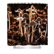 Mushroom Friends Shower Curtain