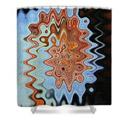Mushroom In The Woods Abstract Shower Curtain