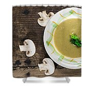 Mushroom Soup Shower Curtain by Deyan Georgiev