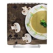 Mushroom Soup Shower Curtain