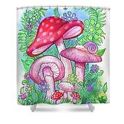 Mushroom Wonderland Shower Curtain