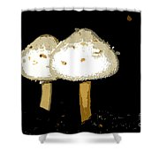 Mushrooms For Two Work Number 11 Shower Curtain