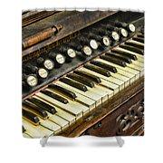 Music - Pump Organ - Antique Shower Curtain
