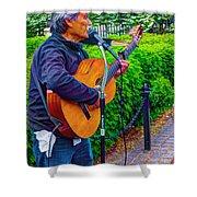 Music Al Fresco Shower Curtain