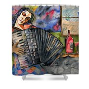 Music And Wine Shower Curtain
