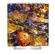 Music And Wine - Palette Knife Oil Painting On Canvas By Leonid Afremov Shower Curtain