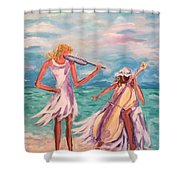 Music At The Water's Edge Shower Curtain