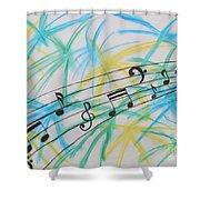 Music Burst Shower Curtain