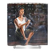 Music  By  The  Night Shower Curtain
